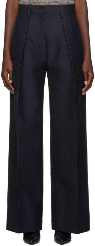 Navy Le Pantalon Carini Trousers