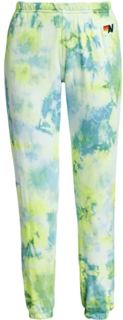 Neon Yellow Tie Dye Sweatpants