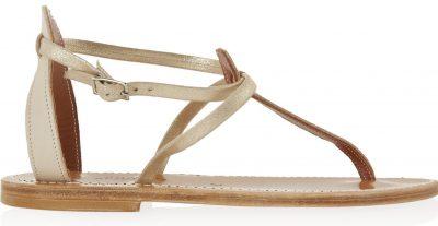 Neutral Buffon T-bar Leather Sandals