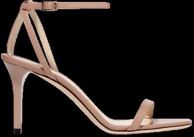 Neutral Minny Leather Sandals-Jimmy Choo
