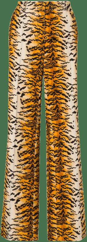 Ochre Tiger Velvet Trousers-Philosophy di Lorenzo Serafini