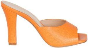 Orange Gloria Mules-Andrea Wazen