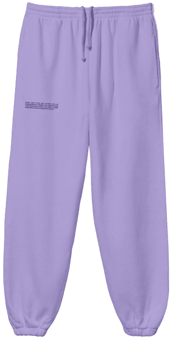 Orchid Purple Recycled Cotton Track Pants-Pangaia