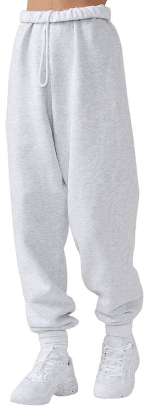 Pearl Grey Oversized Jogger-Joah Brown