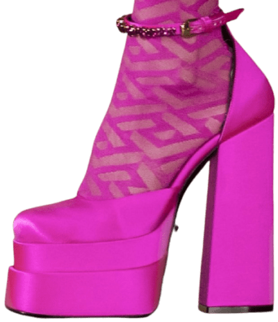 Pink Fall 2021 Collection High Heels-Versace