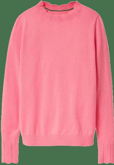 Pink Hambleden Scallop Sweater