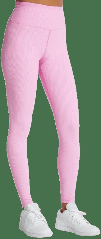 Pink Ribbed High Legging
