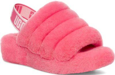 Pink Rose Fluff Yeah Shearling Slingback Sandal-UGG