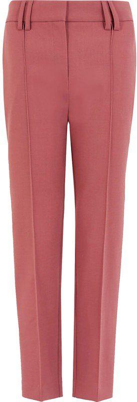 Pink Slim Leg Cropped Trousers