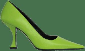 Pistachio Viva Grained Leather-By Far
