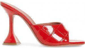 Polished Red Lupita Slide Pump Sandals