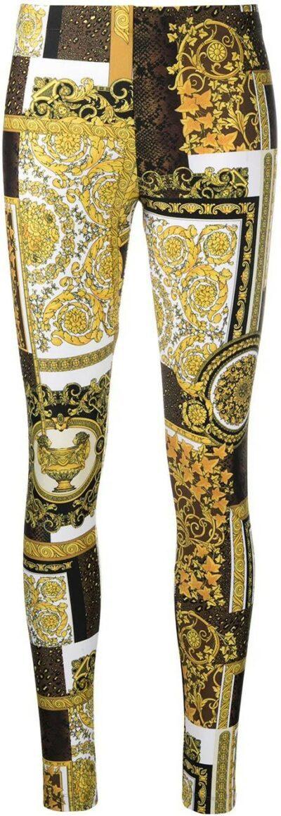 Printed Stretch-Fit Leggings-Versace