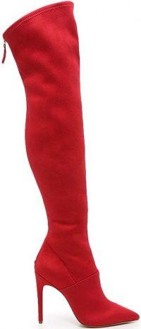 Red Azzala Over The Knee Boot-JLO Jennifer Lopez