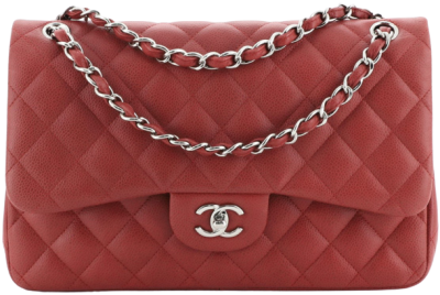 Red Classic Double Flap Bag