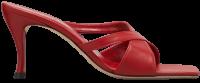 Red Kitty Leather Crisscross Slide Sandals