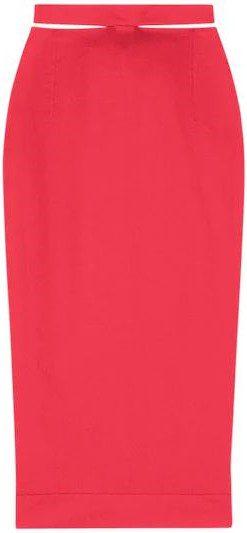 Red La Jupe Valerie Wool Midi Skirt-Jacquemus