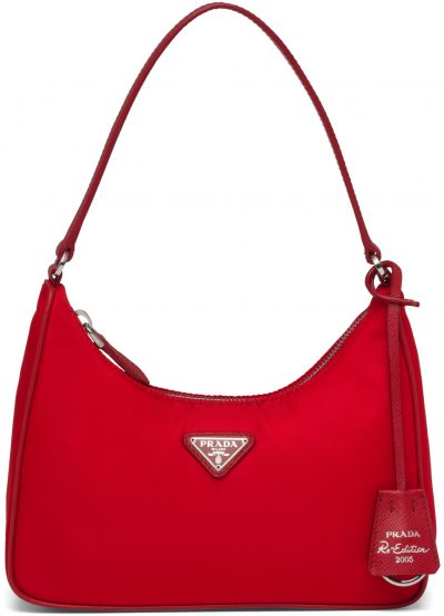 Red Re-Edition 2005 Nylon And Saffiano Leather Mini-Bag-Prada