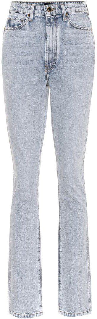 Santa Fe Daria High-Rise Bootcut Jeans-Khaite