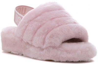 -Seashell Pink Fluff Yeah Slipper