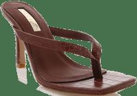 Sepia Croc Solana Sandals-Billini