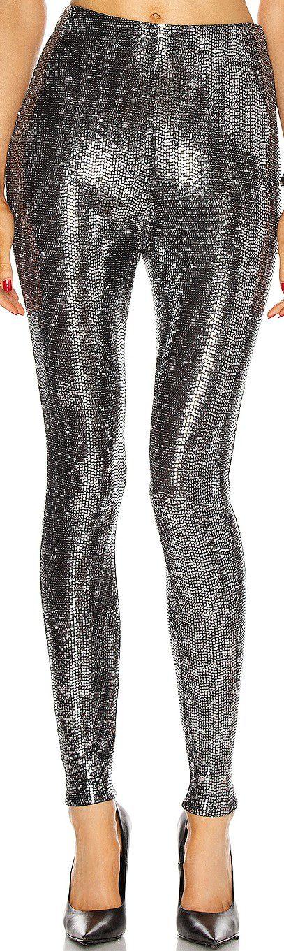 Silver Skinny Legging-Rosetta Getty
