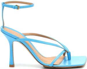Sky-Blue Stretch Leather Sandals-Bottega Veneta