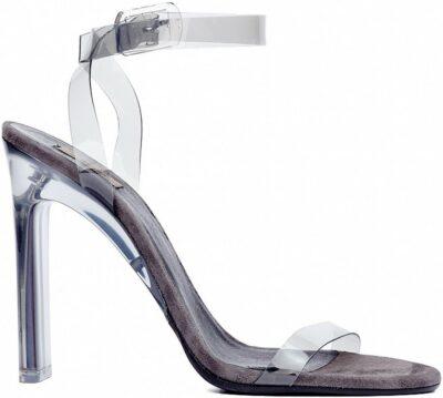 Smoke PVC Sandal With Ankle Strap-Yeezy