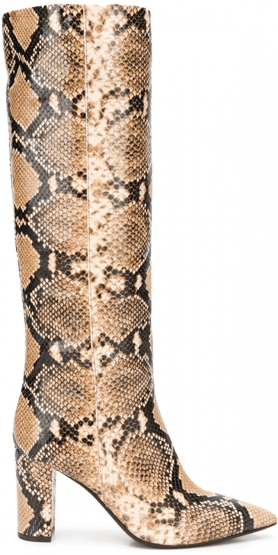 Snakeskin Effect Pointed Boots