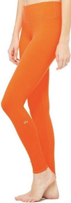 Solid Orange Airbrush Legging-Alo Yoga