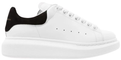 Suede-Trimmed Leather Exaggerated-Sole Sneakers-Alexander Mcqueen