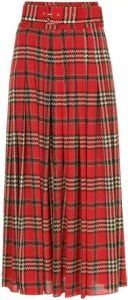 Tartan Pleated Skirt-Emilia Wickstead