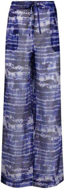Tie-Dye Sheer Trousers