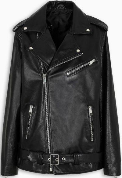 Vintage Black Dad's Leather Jacket-Manokhi