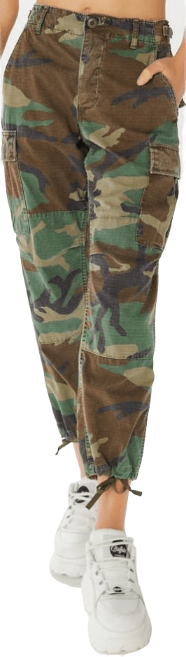 Vintage Stonewashed Camo Surplus Pant-Urban Outfitters