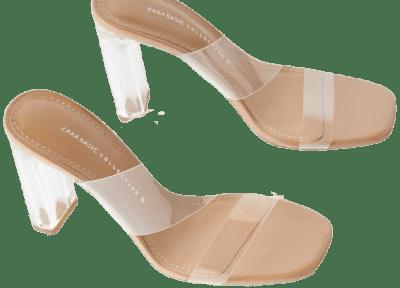 Vinyl Sandals With Methacrylate Heel-Zara