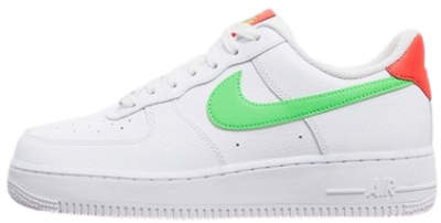 White Air Force 1 '07 With Neon Swoosh Sneakers-Nike