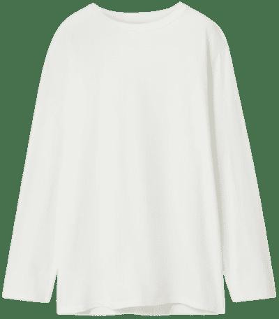 White Autie Cotton-Jersey Top-The Row