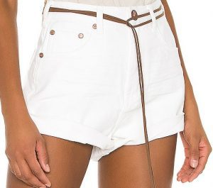 White Beauty Bandits High-Waist Denim Shorts