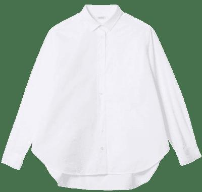 White Cotton Capri Shirt