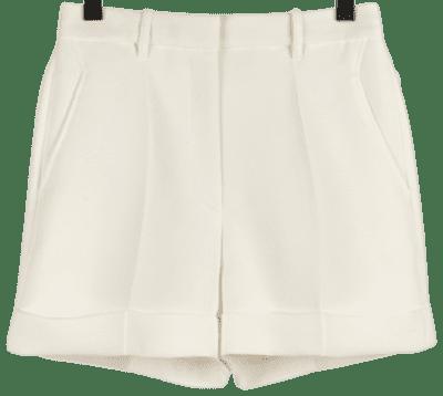 White Crepe Tailored Shorts-Barbara Bui