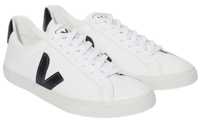 White Esplar Leather Trainers-Veja