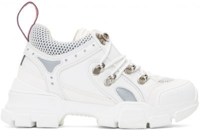 White Flashtrek Chunky Sneakers-Gucci