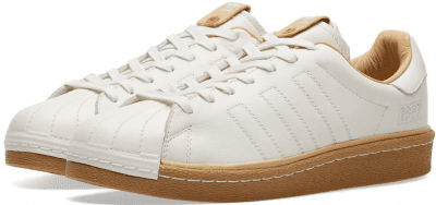 White & Gum Superstar Boost Sneakers