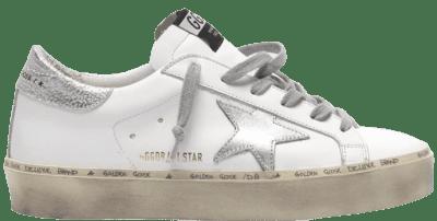 White Hi Star Metallic Leather Low-Top Sneakers