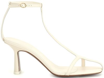 White Jumel Leather Sandals-Neous