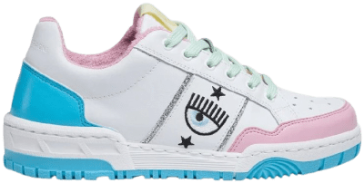 White Leather CF1 Sneakers-Chiara Ferragni