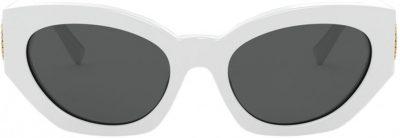 White Medusa Crystal Sunglasses-Versace
