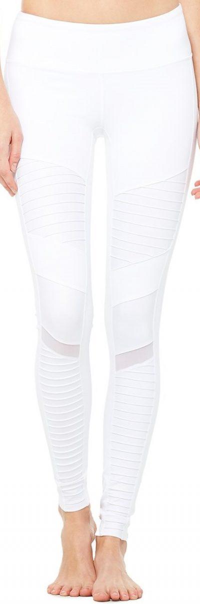 White Moto Legging-Alo Yoga