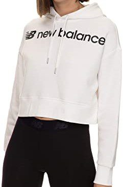 White Optiks Cropped Hoodie-New Balance