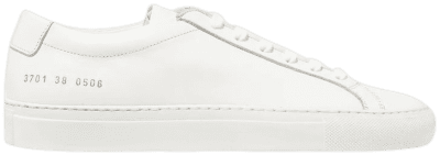 White Original Achilles Leather Sneakers-Common Projects